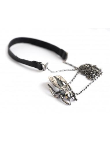 DANIELE BASTA | silver 925 neckless - HORNET
