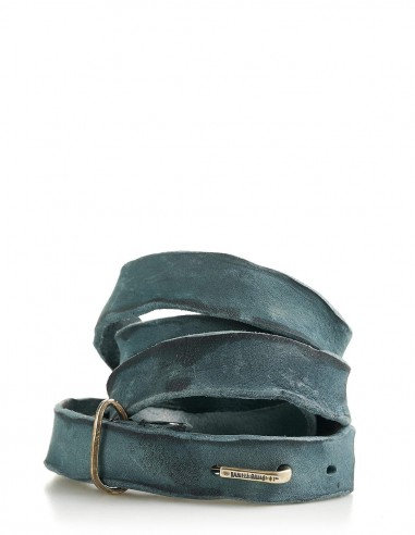 daniele basta leather and silver belt - Bartolomeo