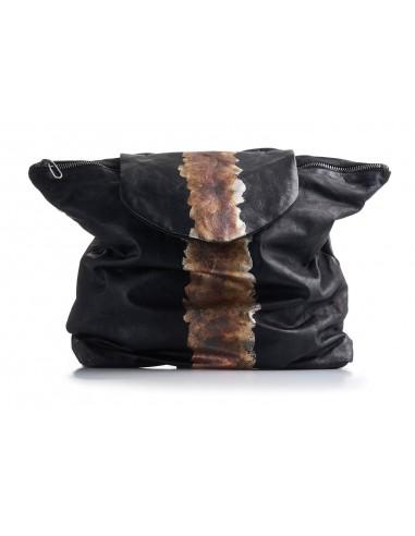 DANIELE BASTA | leather bag - NIA OXIDIZED