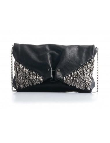 DANIELE BASTA   leather bag - ABBA MIGNON foglie