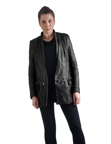 DANIELE BASTA | leather and silver 925 jacket - AKIMI