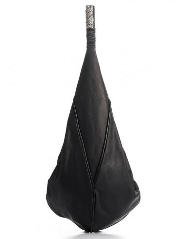 daniele basta leather and silver BAG - GOCCIA FOGLIE