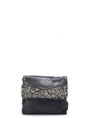 daniele basta leather and silver BAG - KALI FOGLIE
