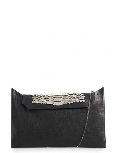 daniele basta leather and silver BAG - osiride pt