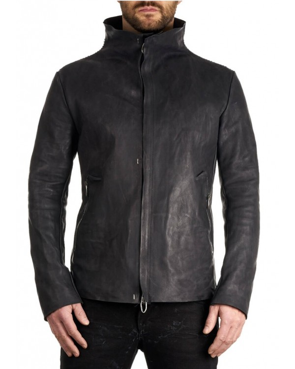 DANIELE BASTA LEATHER AND SILVER JACKET - DIONE
