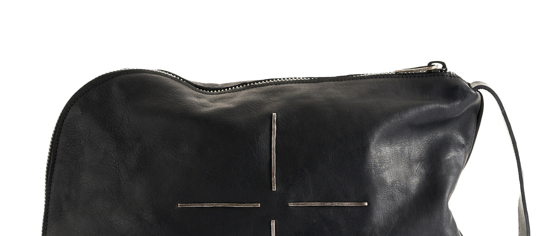 daniele basta leather and silver bags - Rem Ri silver detail