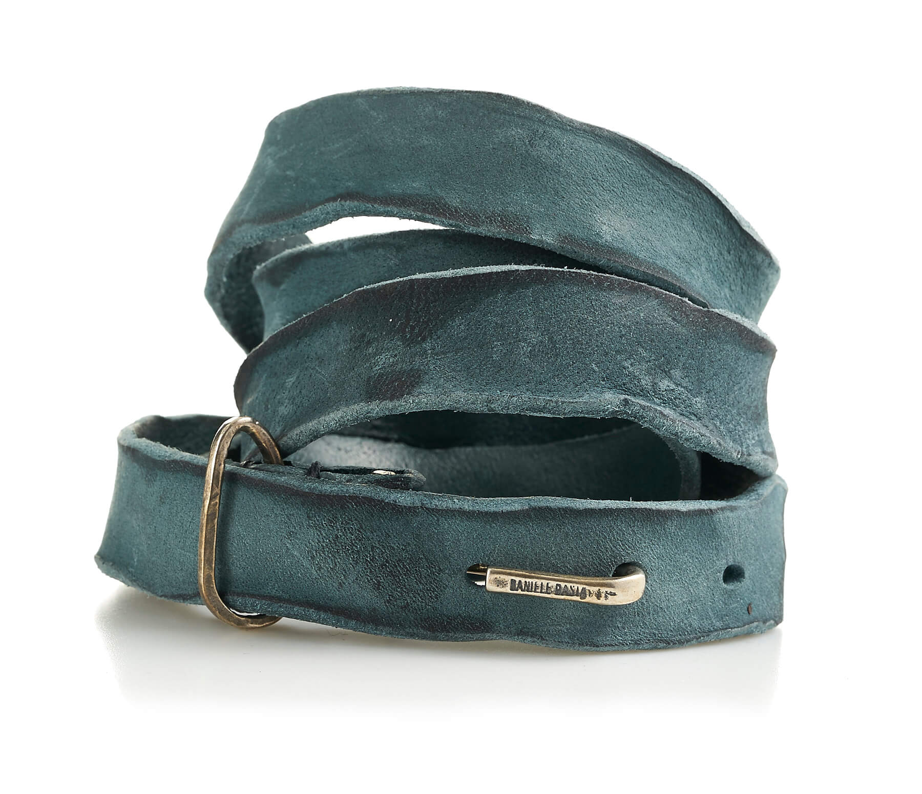 daniele basta leather and silver belt - bartolomeo front