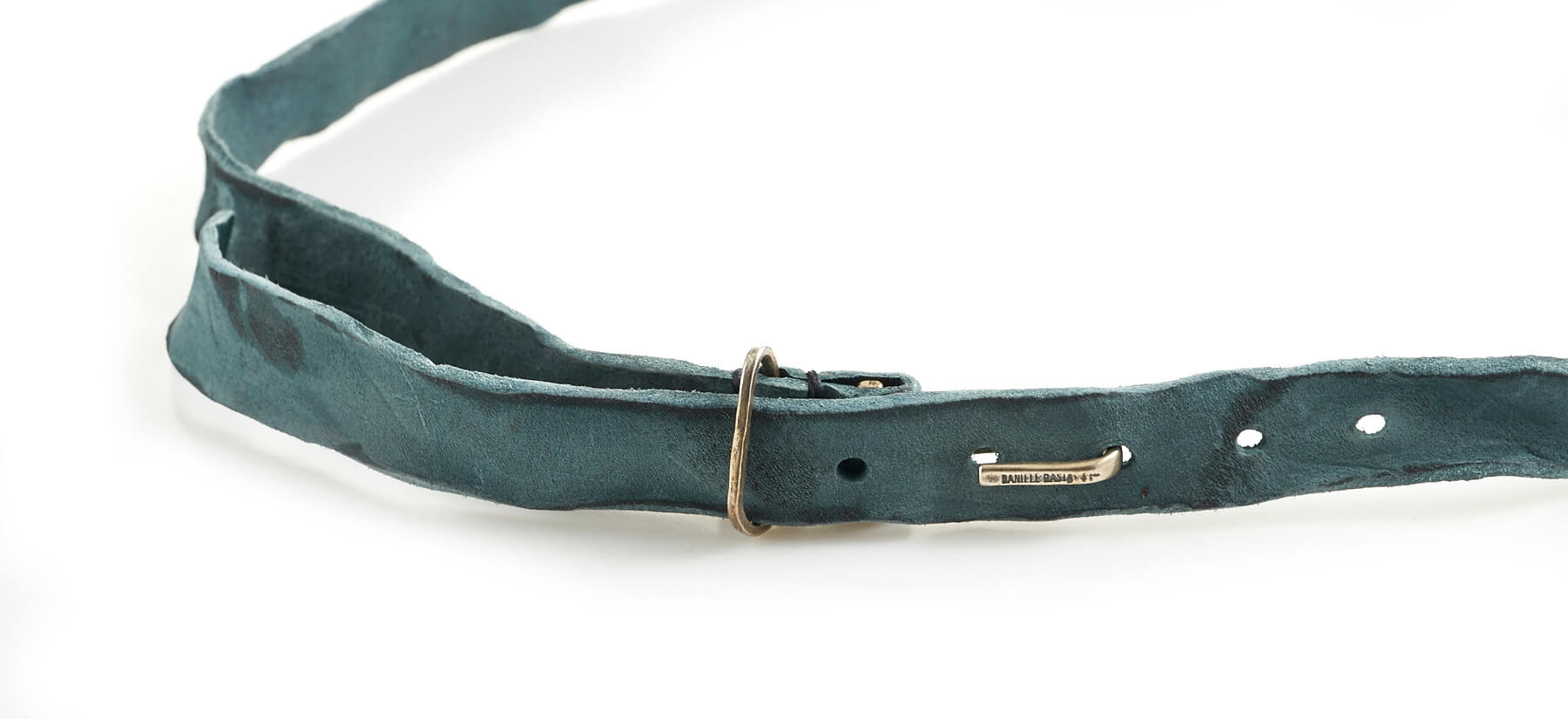 daniele basta leather and silver belt - bartolomeo detail