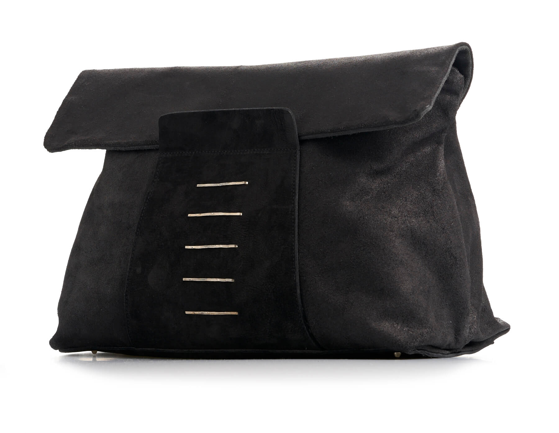daniele basta leather and silver bags - estia grap front