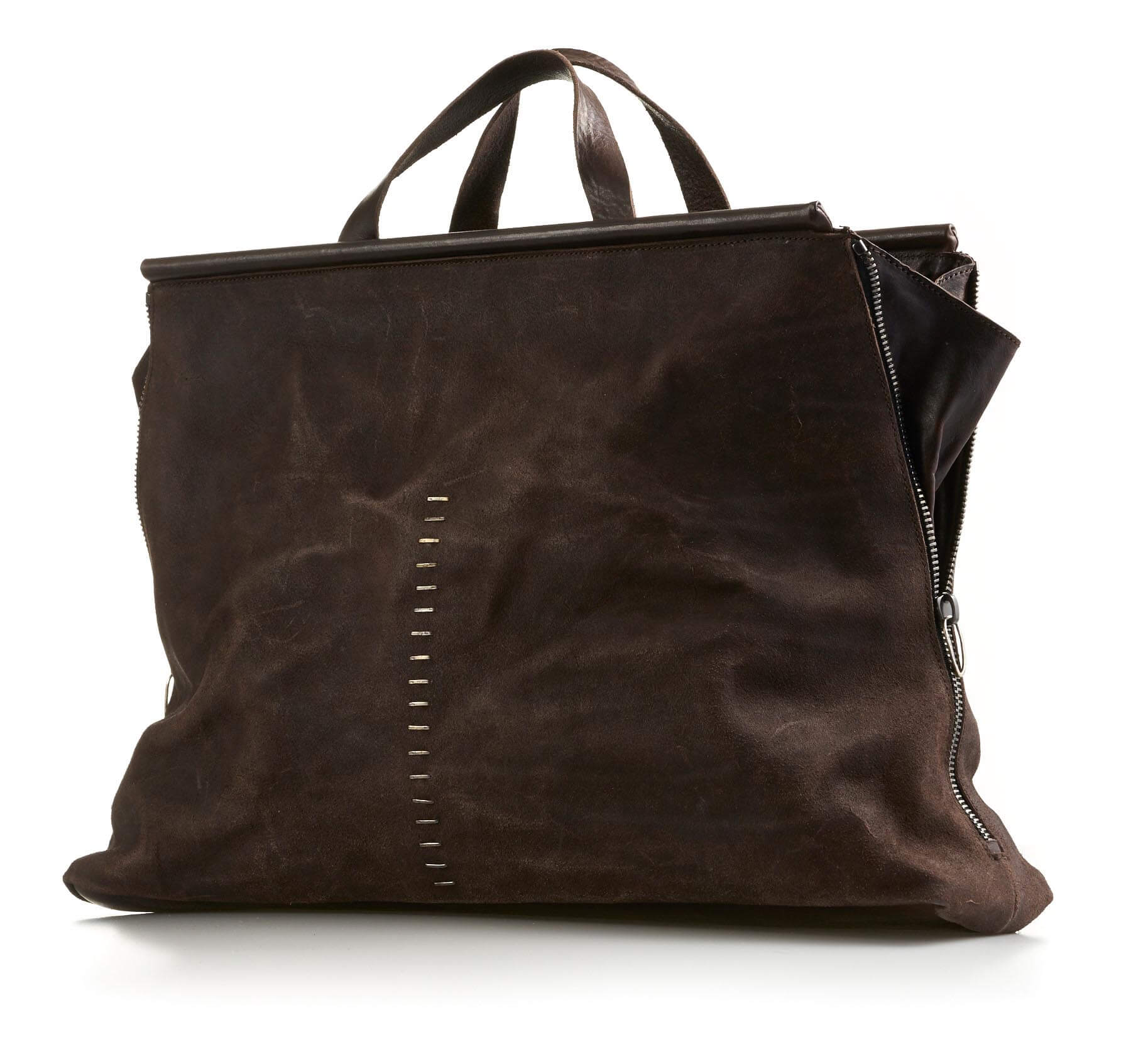 daniele basta leather and silver bags - febe grap front