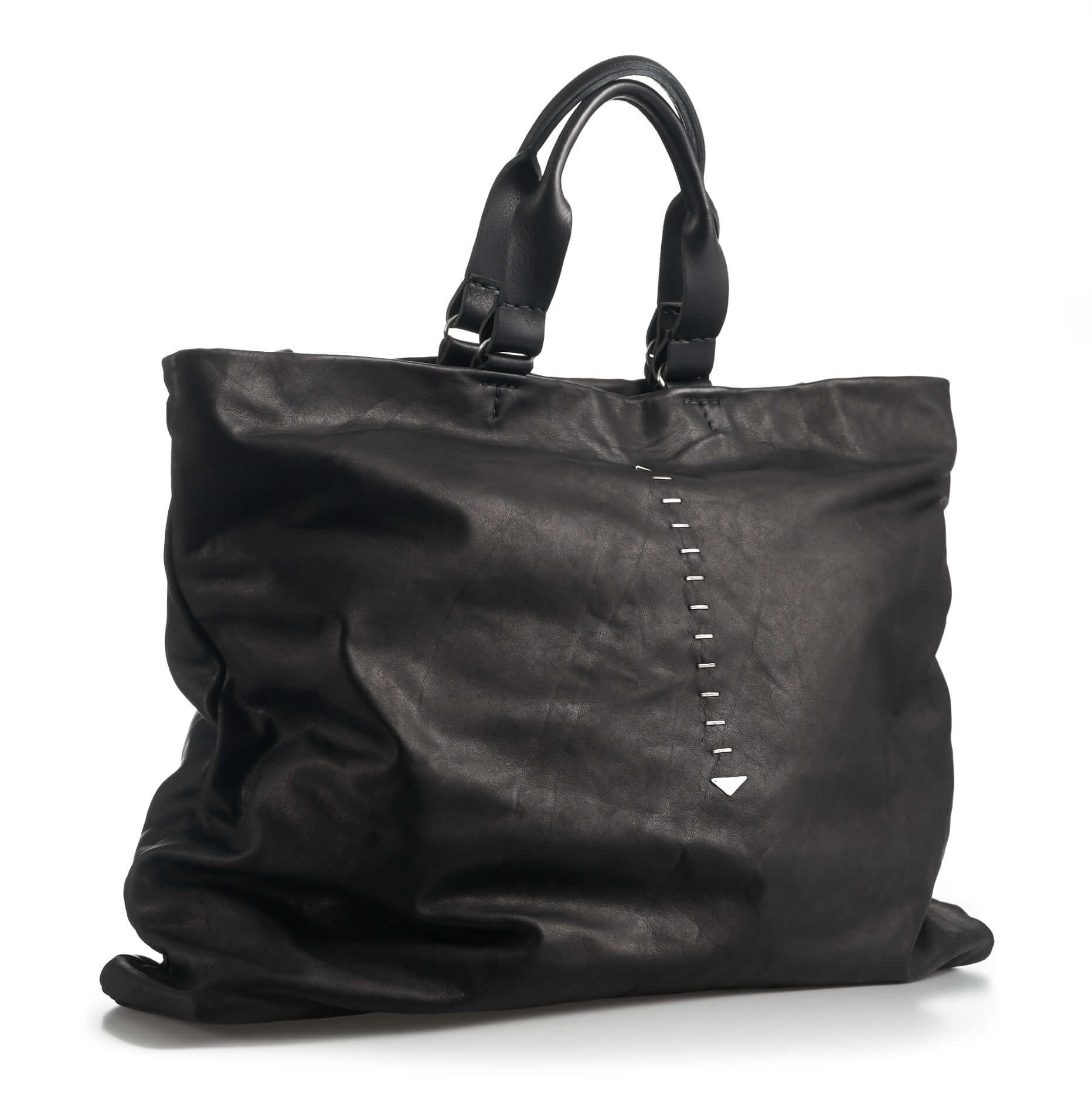 daniele basta leather and silver bags - kali foglie front