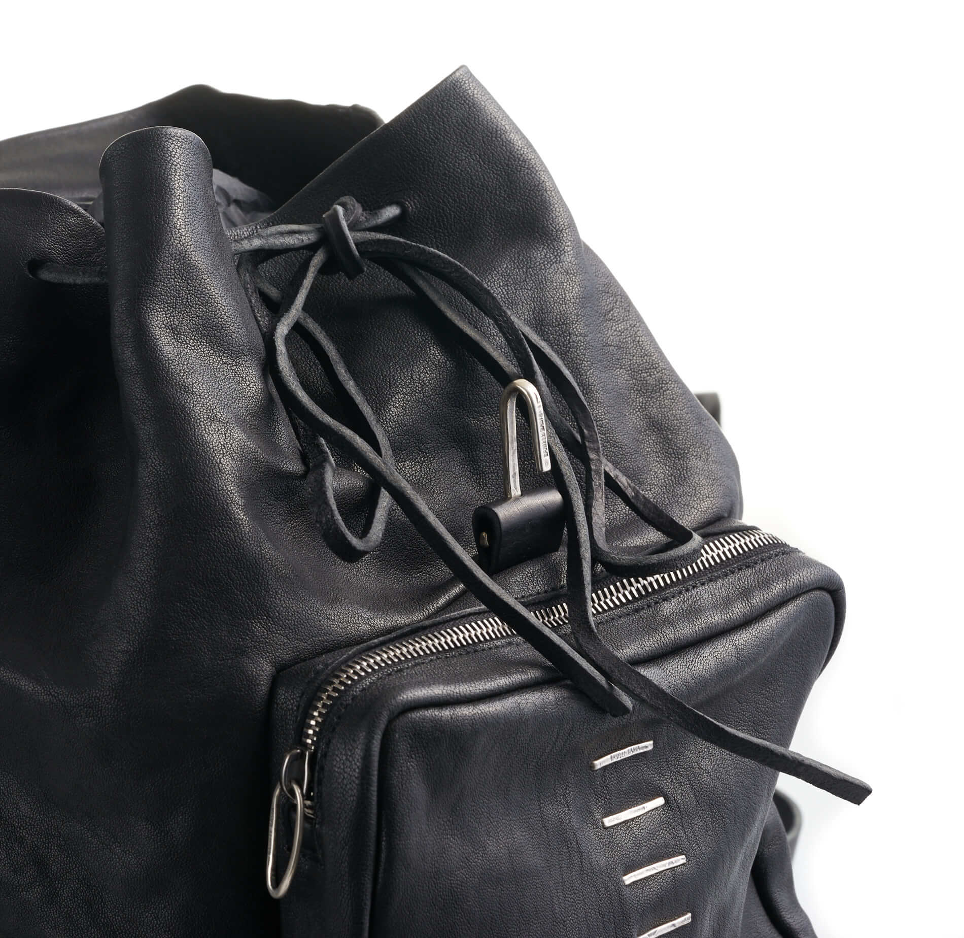 DANIELE BASTA | leather and silver 925 bag - COCCA GRANDE GRAP detail