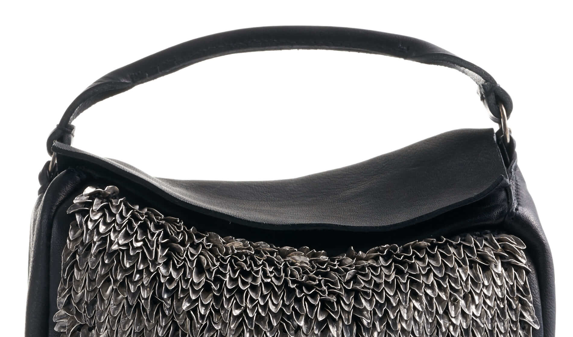 DANIELE BASTA | leather bag - BABA MIGNON FOGLIE detail
