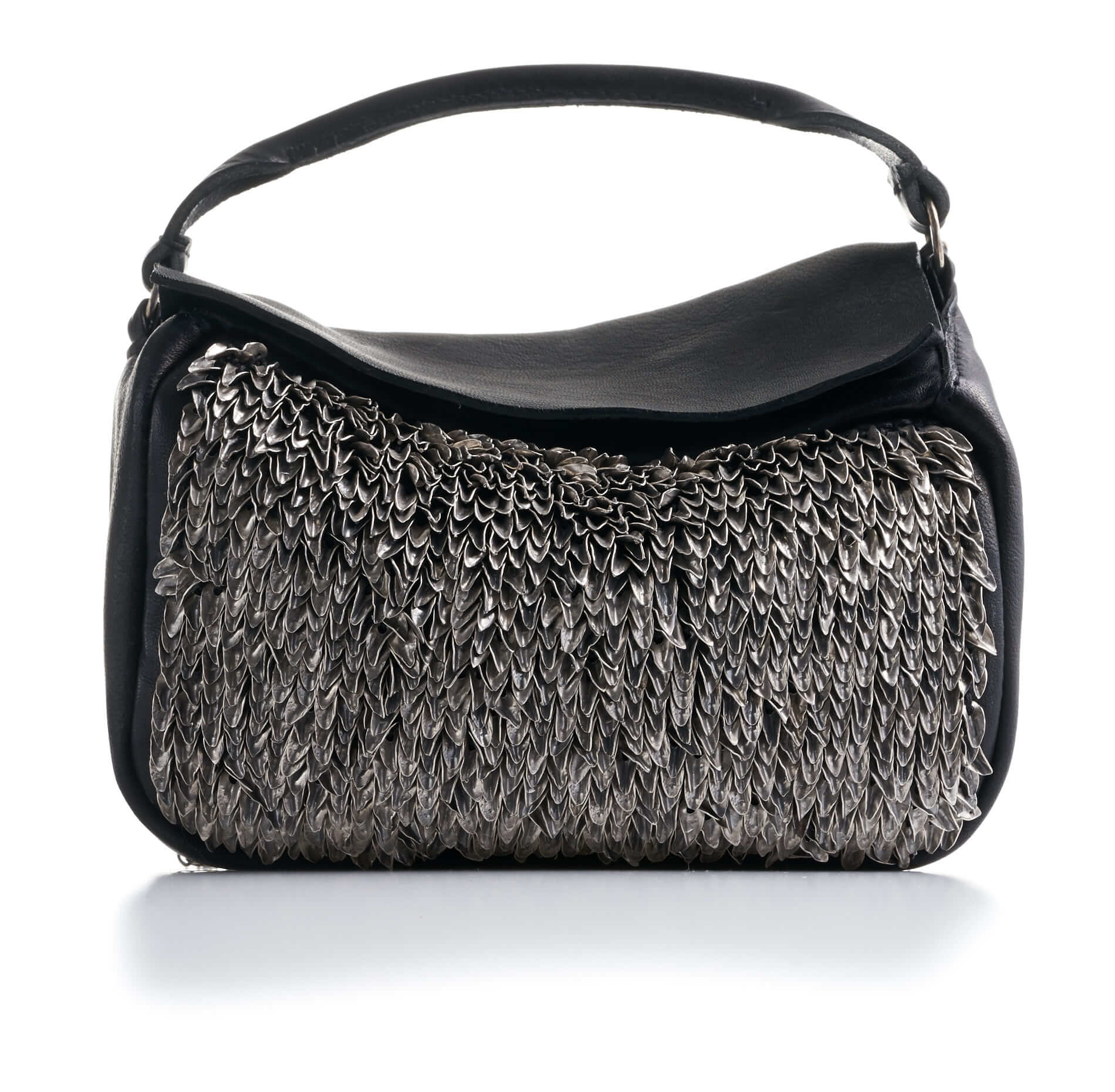 DANIELE BASTA | leather bag - BABA MIGNON FOGLIE front
