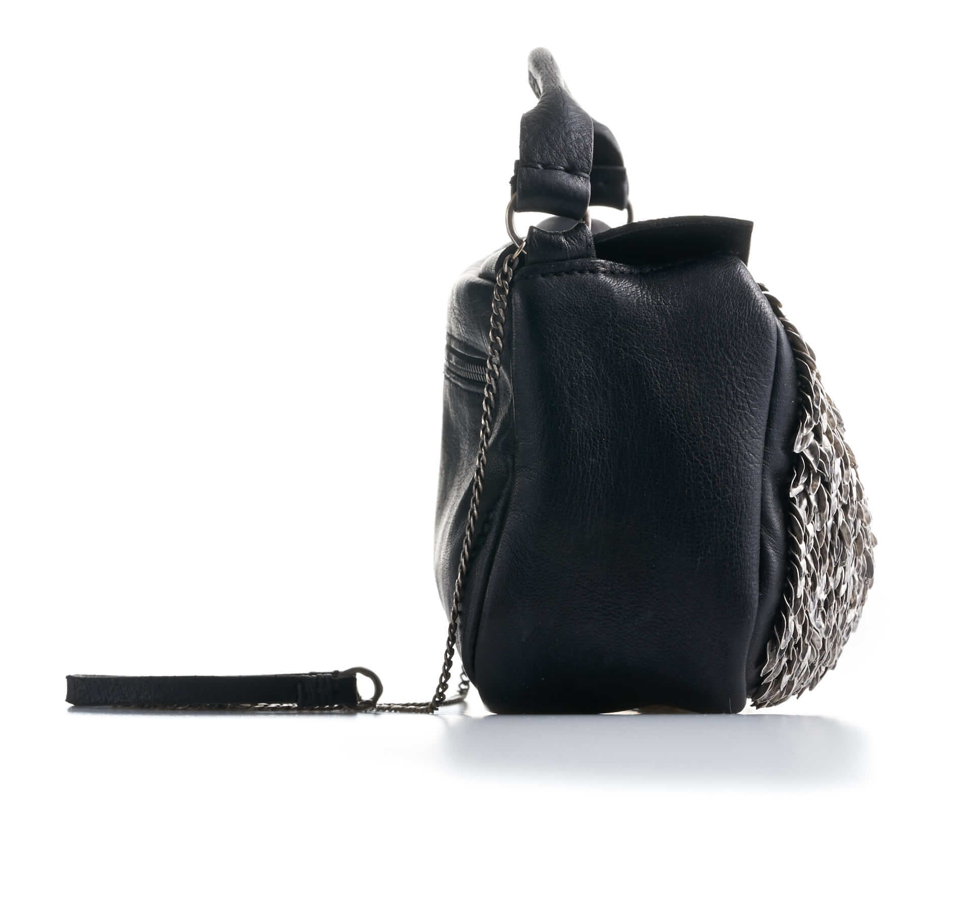 DANIELE BASTA | leather bag - BABA MIGNON FOGLIE wearing 2