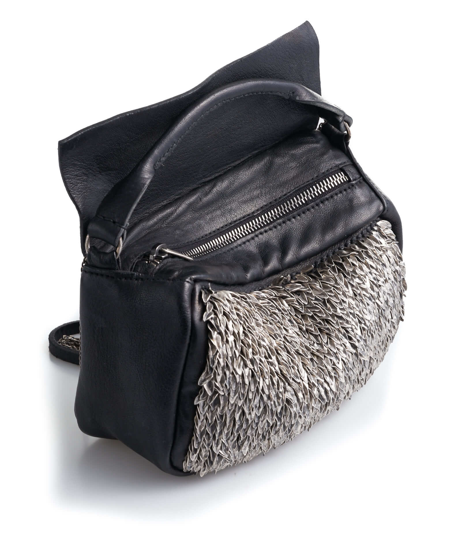 DANIELE BASTA | leather bag - BABA MIGNON FOGLIE side